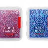 Kikkerland Pixel Playing Cards Red and Blue