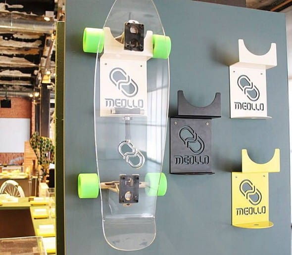 Time to hang up your skateboard with style.