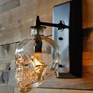 Moonshine Lamp Skull Wall Sconce  Cool Gift to Buy Him