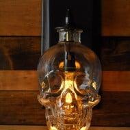 Moonshine Lamp Skull Wall Sconce  Crystal Head Vodka