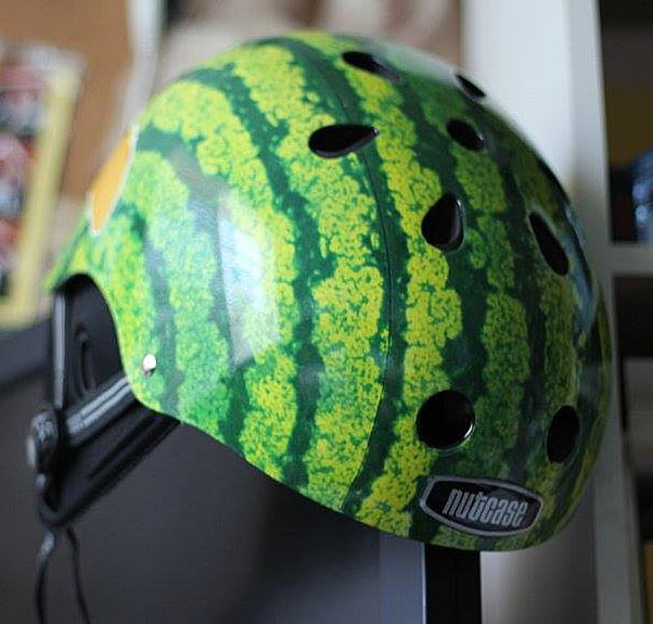 Protect your noggin with a water melon.
