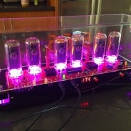 Pramanicin Outstanding IN18 Nixie Tube Clock Pink Light
