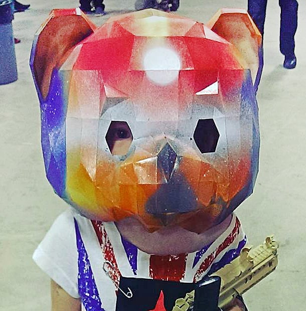 They'll bear-ly recognize you under this mask.