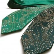 Scatterbrain Ties Circuit Board Geek Tie Computer Themed Fashion Accessory