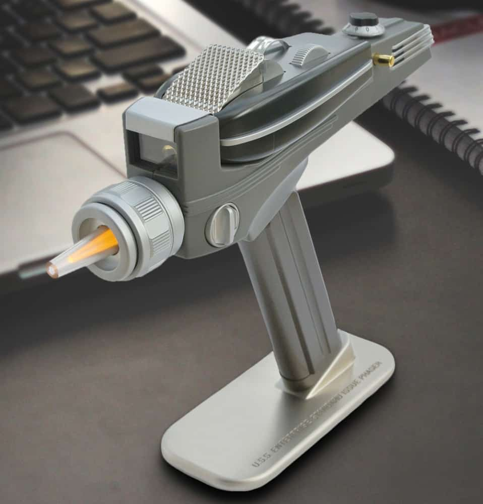 """Set your phaser to """"change TV channel""""."""