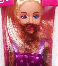 One of the most realistic Barbies ever.