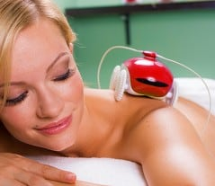Relax and let this little robot massage your back for you.