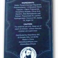 Zekes Original Beard Wipes Ingredients