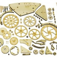 Abong Mechanical Wooden Clock Kit Build Your Own  House Accessory