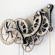 Abong Mechanical Wooden Clock Kit Vintage Design Ornaments