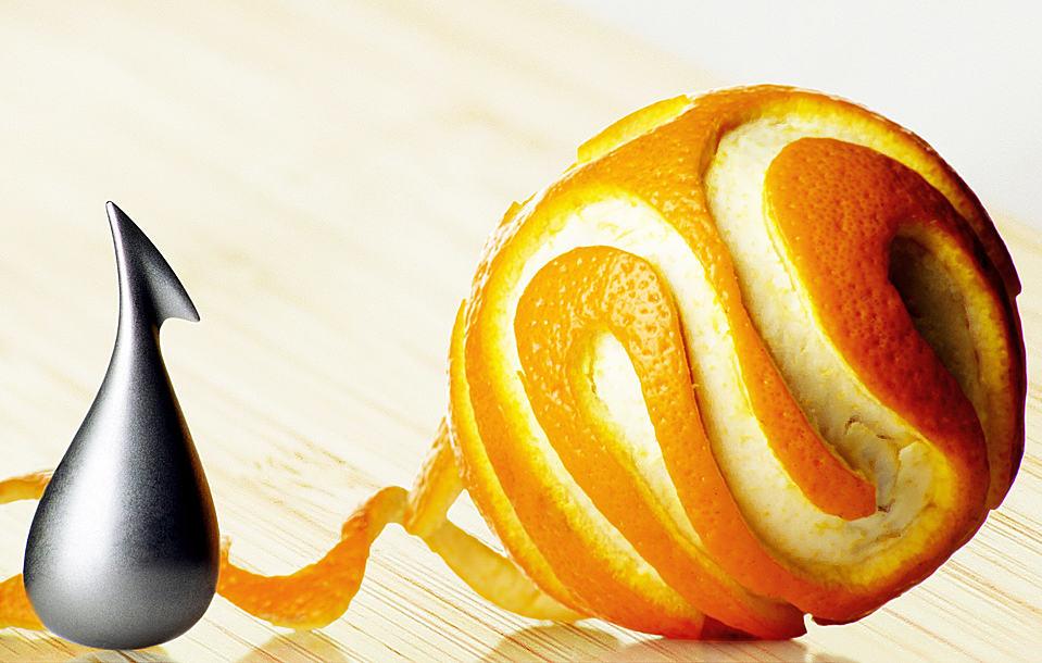 Peel orange skins like a true artist.