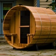 Almost Heaven Saunas Canopy Barrel Sauna Cool Gift to Buy for Couples