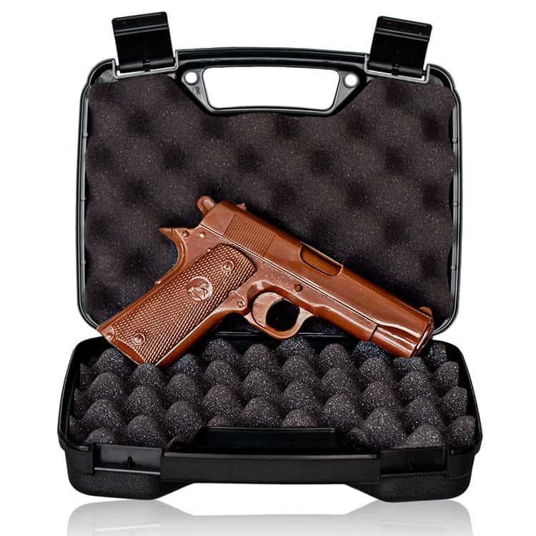 Chocolate Weapons Solid Milk Chocolate 1911 Handgun - NoveltyStreet