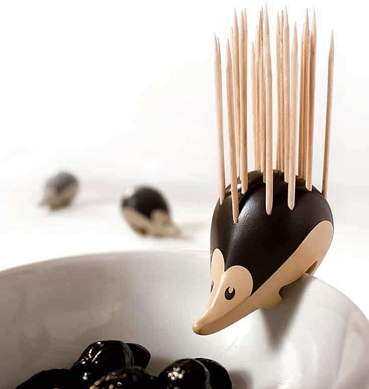 Serve cocktail food with a hedgehog on the side.