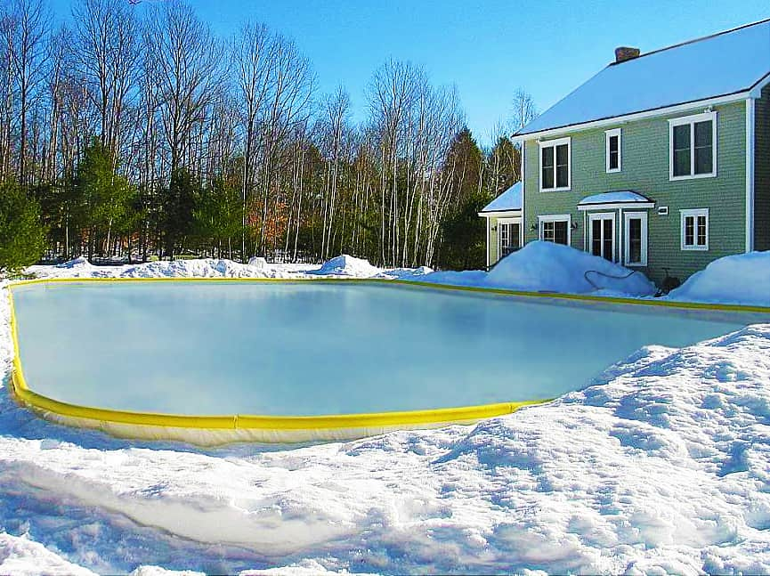 Build an ice rink right in your backyard.