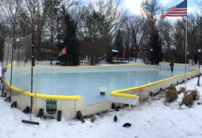 Backyard Ice Rink Kit : Nicerink Backyard Ice Rink Kit Private Hockey