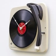 Pixel This Recycled Telefunken Record Player Clock Cool Gift to Buy for Kids