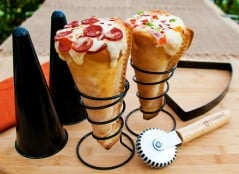 Eat your pizza ice cream cone style.