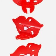 Sheyne Lips and Mustache Toothbrush Holder Couples Matching Home Accessory