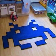 Space Invaders Mats Space Invader Shaped Rug Cool Geek Gift Idea to Buy