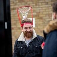 The Original Basket Case Headband Hoop Game Unique Fun Idea
