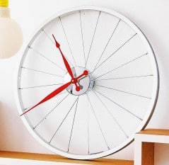 Tick tock goes the bicycle clock.