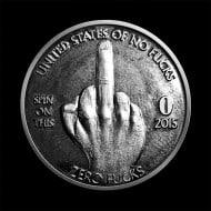 Zero Fucks Given Coin Funny Bad Finger Craft