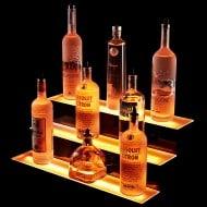 Armana Productions 3 Step Illuminated Liquor Display Shelves Cool Colorful Liquor Holder