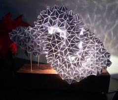Geodesic art shines a light on your gloomy night.