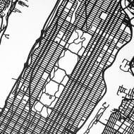 Carbon Light 3D Laser Cut New York Street Map House Warming Gift Idea