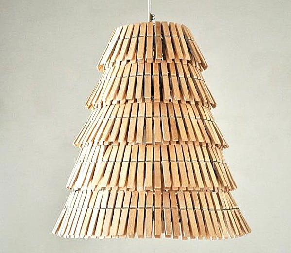 From clothespin to cool lighting.