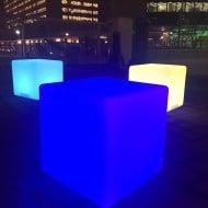 Design Kollection Outdoor LED Light Cube Unique Center Table Design