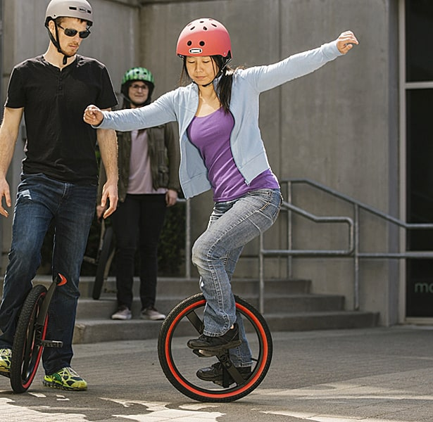 Unicycling made easy.