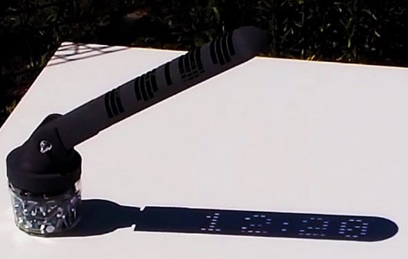 A sundial with actual digits.