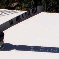 Mojoptix Digital Sundial Sun Operated Clock