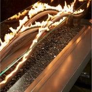 Outdoor Great Room Wave Fire Pit Table Amazing Garden Equipment