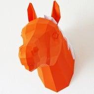 Paperwolf's Shop Paper Horse Trophy Creative Home Decorations