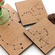 Pepper Sprouts Star Constellations Coaster Buy Unique Wood crafts