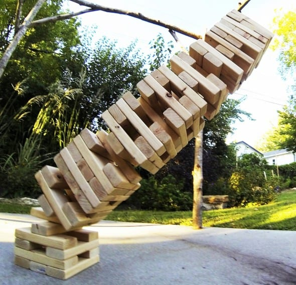 Giant Jenga! on your lawn.