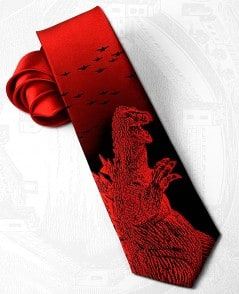 Red Godzilla tie, so they'll know you mean business.