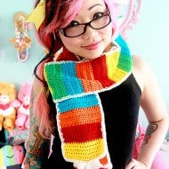 Twinkie Chan Rainbow Tart Candy Scarf Cute Colorful Accesory
