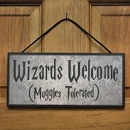 Happy Distraction Wizards Welcome (Muggles Tolerated) Plaque Cool Collectibles