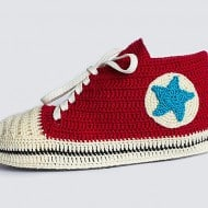 Knit and Leather Knitted Sneakers Fun Things To Wear To A Party