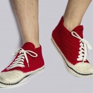 Knit and Leather Knitted Sneakers Unique Footwear