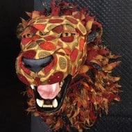 Little Stag Studio Custom Upholstered Faux Taxidermy Lion Buy Exotic Home Decoration