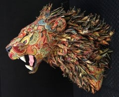 No need to hunt a lion with this cool fabric trophy around.