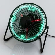 USB LED Clock Fan Cool Cool Computer Stuff