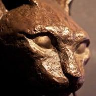 Casadelgatto Bronze Cat Door Knocker Sculpture Cool Household Item