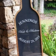 Coosa Designs Wine Bottle Guest Book Nice Keepsake Item