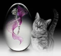 Encapsulate your deceased pet's DNA in a beautiful crystal egg.